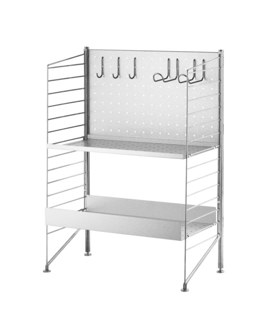Free standing shelf – galvanized